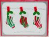Iris Folding Christmas Socks Trio - 2 die cuts