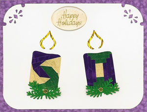 Iris Folding Candles Small Duo- 1 pattern & 2 die cuts