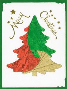 Iris folding christmas tree pine 1 pattern 2 die cuts