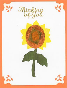 Iris Folding Sunflower - 2 die cuts