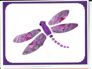 Iris Folding Dragonfly - 1 pattern & 2 die cuts