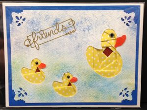 Iris Folding Duck Family - 1 pattern & 2 die cuts