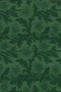 Floral Foil: Hunter Green