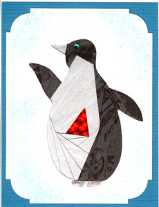 Iris Folding Penguin - 1 pattern & 2 die cuts