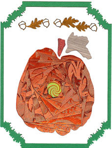 Iris Folding Pumpkin - 1 pattern & 2 die cuts